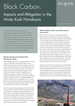 ICIMOD Report on Black Carbon